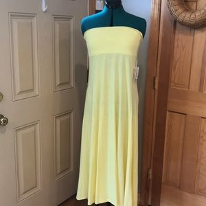 NWT Lularoe heathered lemon maxi dress size medium